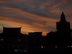 Solnedgang i Phnom Pehn